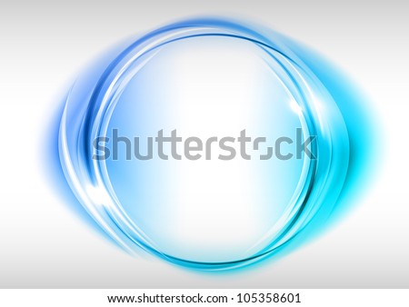blue circle on the light background