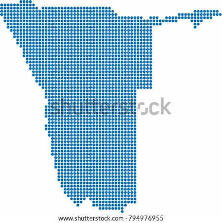 blue circle shape namibia map