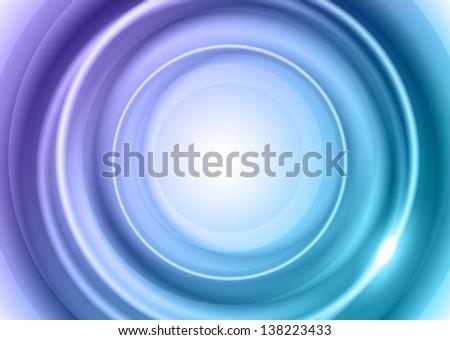 blue circles as abstract