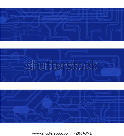 blue circuit banners