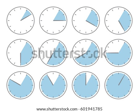blue clock  five minute or one