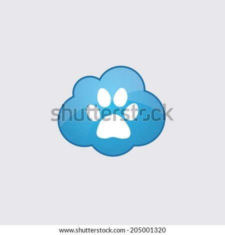 blue cloud cat footprint