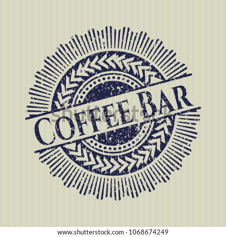 Blue Coffee Bar distress grunge stamp #1068674249