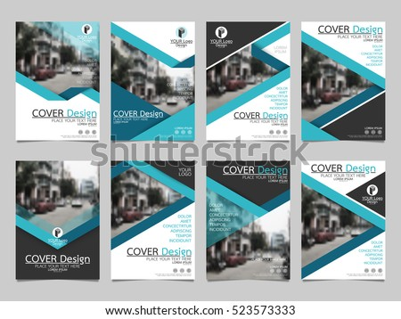 Blue collection set cover business brochure vector design, Leaflet advertising abstract background, Modern poster magazine layout template, Annual report for presentation.