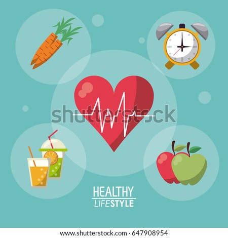 blue color background with bubbles and elements sport healthy lifestyle