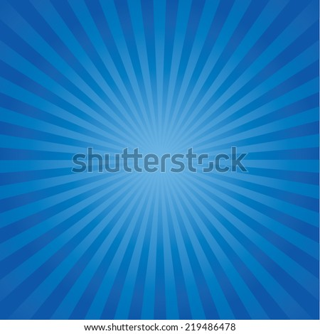 blue color burst background. Vector illustration