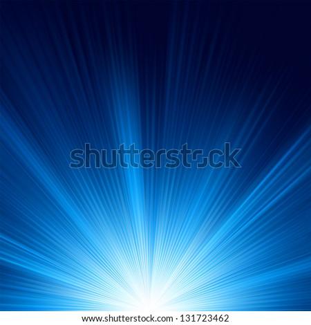 blue color design with a burst