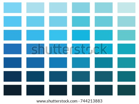 blue color palette vector