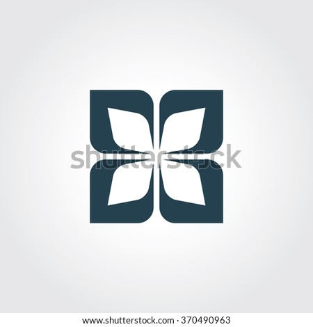 Blue Colored Icon of Design Element On Gray Color Background. Eps-10.