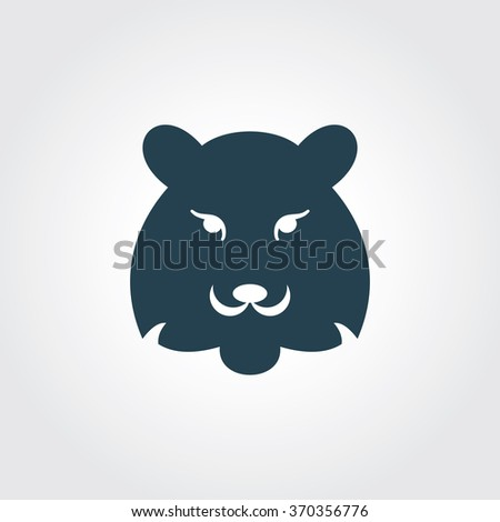 blue colored icon of tiger on