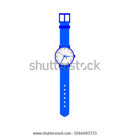 blue colored wrist watch on