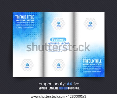 Tri fold brochure icons download free vector art stock graphics blue colors low poly elements style business tri fold brochure template corporate leaflet flashek Gallery