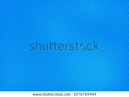 Blue comic pop-art halftone background vector #1076769404