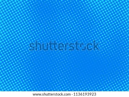 Blue comic pop-art halftone background vector