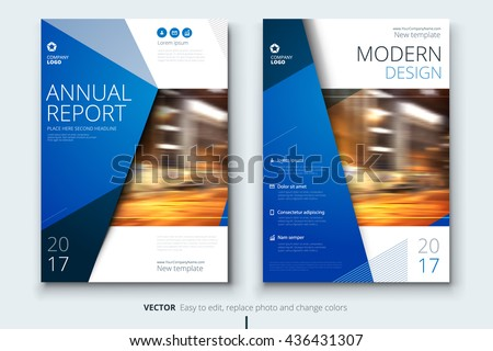 Blue Corporate business annual report cover, brochure or flyer design. Leaflet presentation. Catalog with Abstract geometric background. Modern publication poster magazine, layout, template. A4 size
