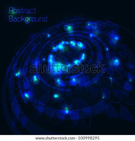 Blue cosmos abstract background