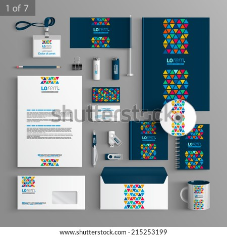 blue creative stationery