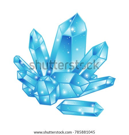 blue crystals druse isolated on