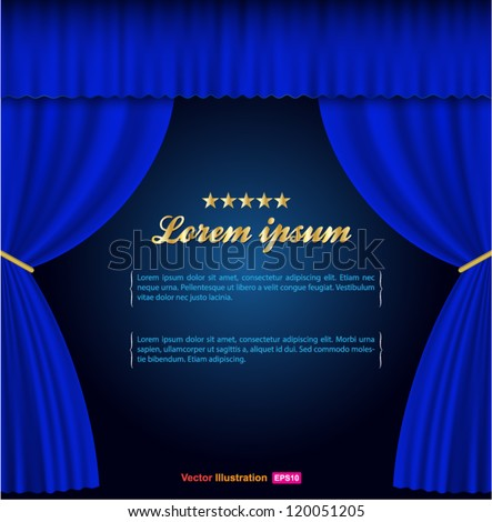 blue curtain background