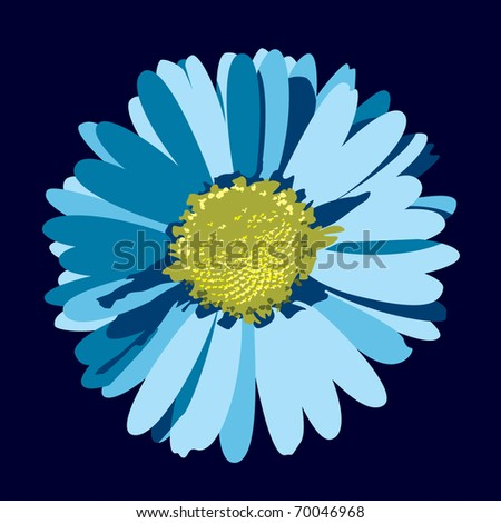 Blue Daisy Flowers Blue Daisy Flower Eps10