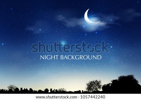 blue dark night sky background