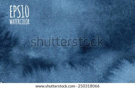 blue dark watercolor ornamental