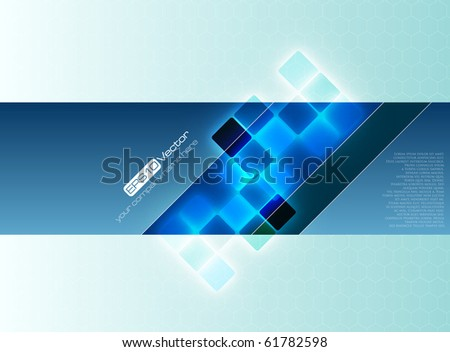 Blue decorative background - vector illustration