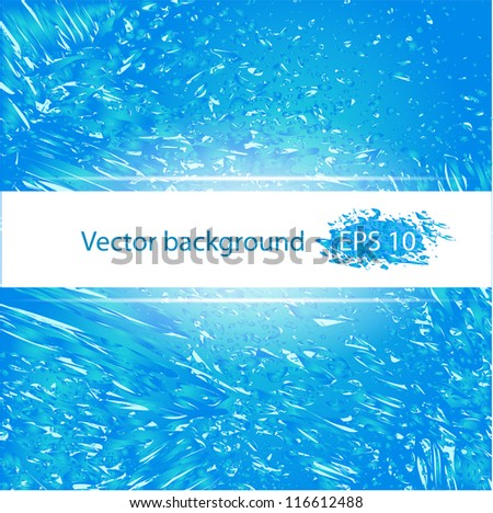Blue deep water background abstract vector illustration