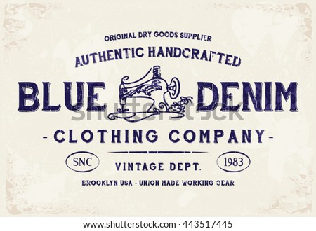 blue denim clothing print for t ...