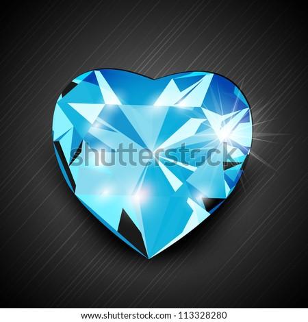 Blue Diamond Shaped Logo Blue Diamond in Heart Shape