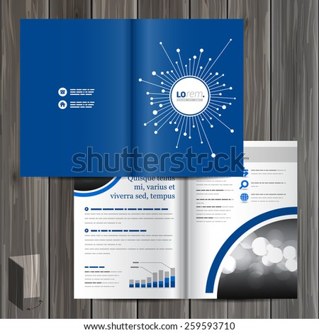 Cabling business magazine free vector 4vector for Electronic brochure templates