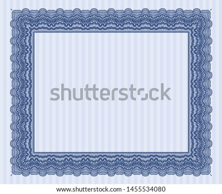 Blue Diploma. With quality background. Customizable, Easy to edit and change colors. Beauty design.