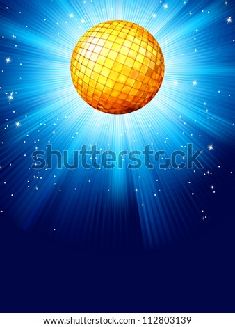 Blue disco background. And also includes EPS 8 vector
