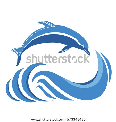 blue dolphins jumping in sea