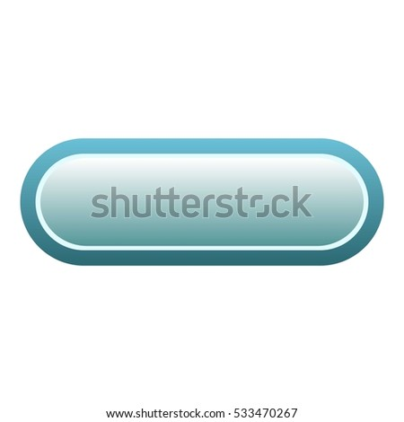 Blue download rectangle button icon. Flat illustration of download blue rectangle button vector icon for web isolated