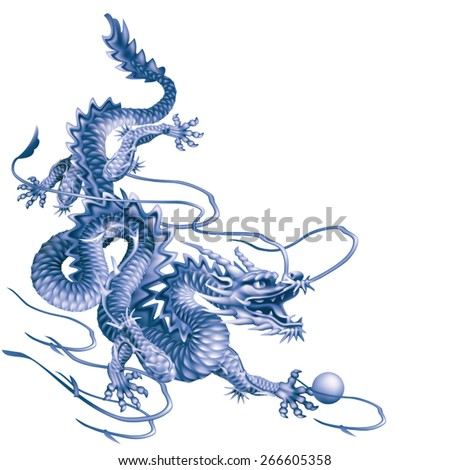 blue dragon running down