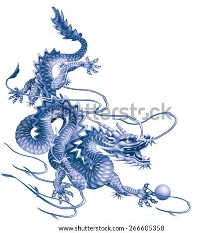 blue dragon running down