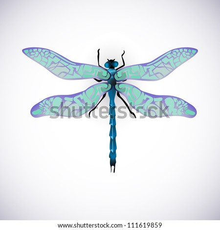 blue dragonfly vector image high resolution collection