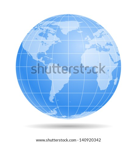 blue earth globe   icon