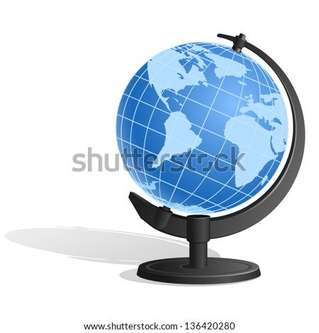 blue earth globe or desk globe