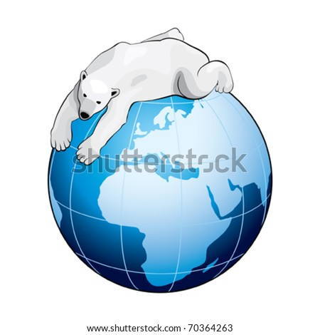 Blue Earth with Polar Bear