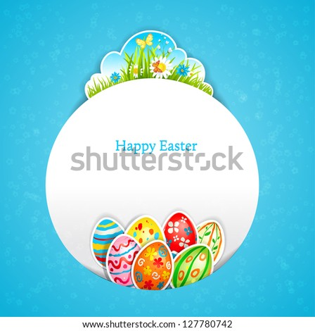 Blue Easter background with space for text