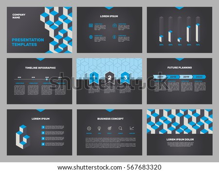 blue elements for infographics