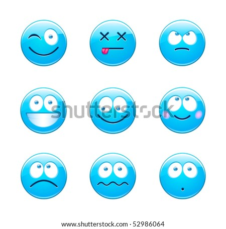 blue emoticons