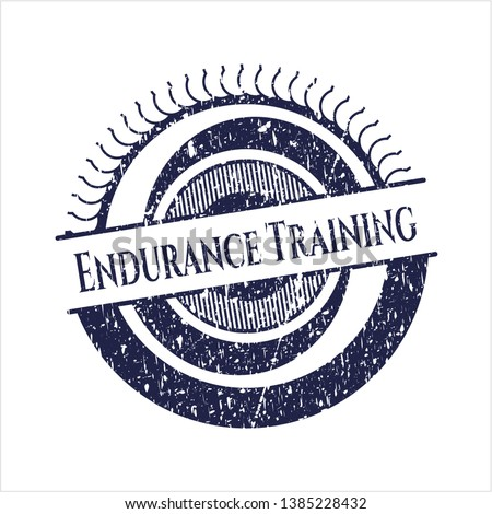 Blue Endurance Training grunge style stamp