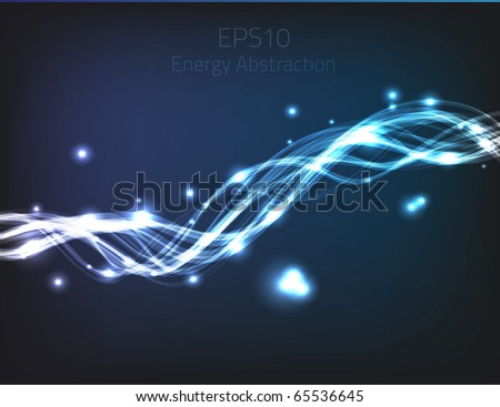 Blue energy abstraction for your design. Fully vector, enjoy!