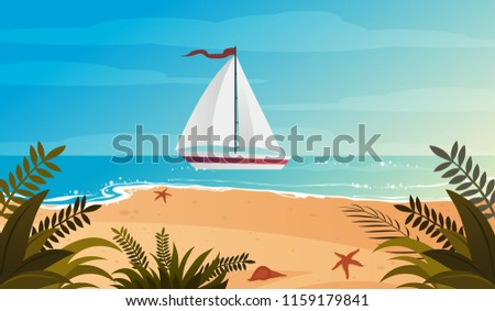 blue evening tropical sea and