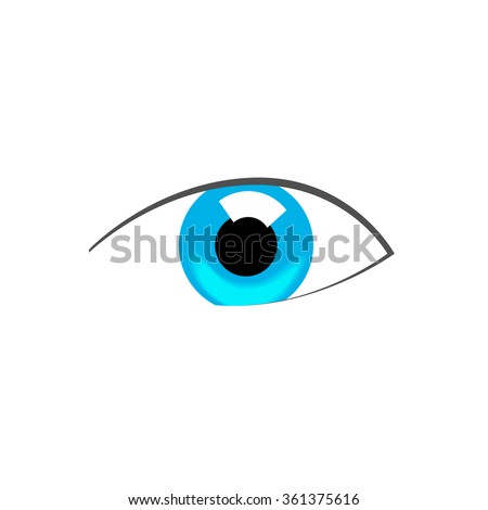 blue eye abstract vector symbol