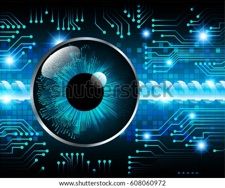 blue eye cyber security concept
