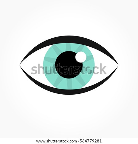 Blue Eye Icon Vector Illustration Ez Canvas